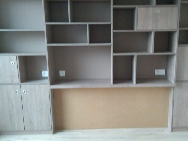 Aménagement mur bibliothèque
